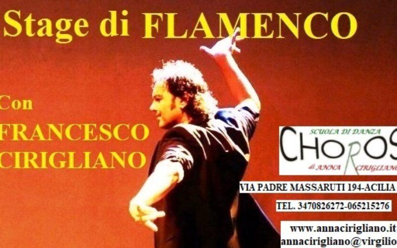 Lo Stage delle FESTE– FLAMENCO con Francesco Cirigliano