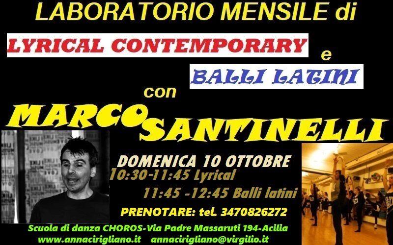 LABORATORIO MENSILE: lyrical contemporary e balli latini